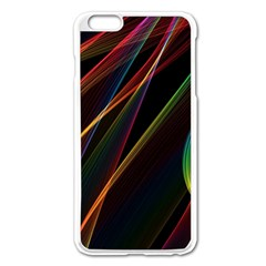 Rainbow Ribbons Apple Iphone 6 Plus/6s Plus Enamel White Case