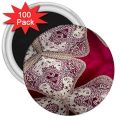 Morocco Motif Pattern Travel 3  Magnets (100 Pack)