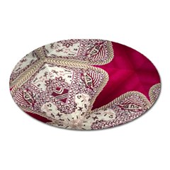 Morocco Motif Pattern Travel Oval Magnet
