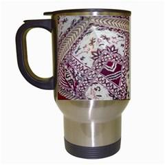Morocco Motif Pattern Travel Travel Mugs (white)