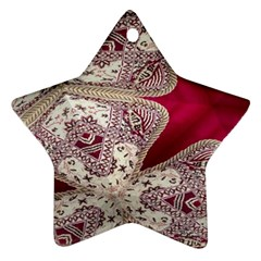 Morocco Motif Pattern Travel Star Ornament (two Sides)