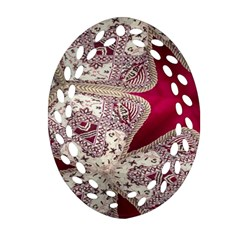 Morocco Motif Pattern Travel Oval Filigree Ornament (two Sides) by Nexatart