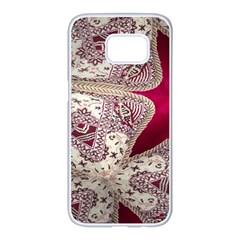 Morocco Motif Pattern Travel Samsung Galaxy S7 Edge White Seamless Case by Nexatart