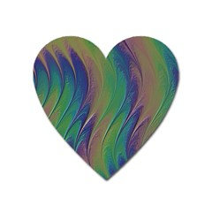 Texture Abstract Background Heart Magnet