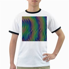 Texture Abstract Background Ringer T Shirts