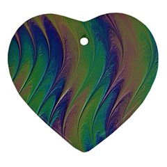 Texture Abstract Background Heart Ornament (two Sides)