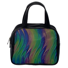Texture Abstract Background Classic Handbags (one Side)