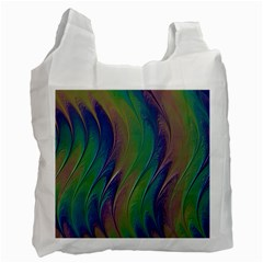 Texture Abstract Background Recycle Bag (one Side)