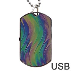 Texture Abstract Background Dog Tag Usb Flash (two Sides) by Nexatart