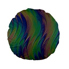 Texture Abstract Background Standard 15  Premium Flano Round Cushions