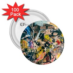 Art Graffiti Abstract Vintage 2 25  Buttons (100 Pack)