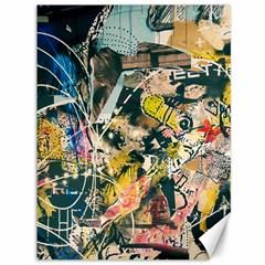 Art Graffiti Abstract Vintage Canvas 36  X 48