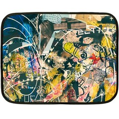 Art Graffiti Abstract Vintage Fleece Blanket (mini) by Nexatart