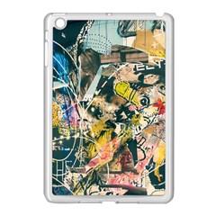 Art Graffiti Abstract Vintage Apple Ipad Mini Case (white) by Nexatart