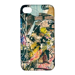 Art Graffiti Abstract Vintage Apple Iphone 4/4s Hardshell Case With Stand by Nexatart
