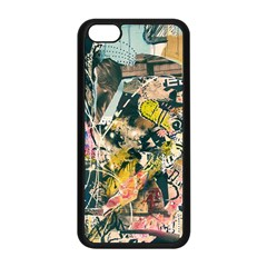 Art Graffiti Abstract Vintage Apple Iphone 5c Seamless Case (black)