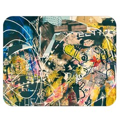 Art Graffiti Abstract Vintage Double Sided Flano Blanket (medium)