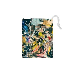 Art Graffiti Abstract Vintage Drawstring Pouches (xs)