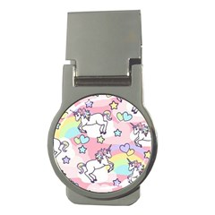 Unicorn Rainbow Money Clips (round)  by Nexatart