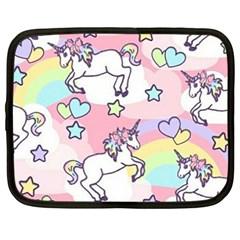 Unicorn Rainbow Netbook Case (large)