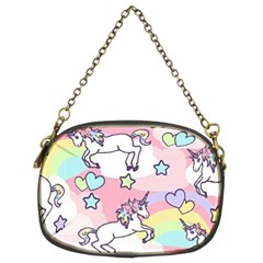 Unicorn Rainbow Chain Purses (two Sides)  by Nexatart