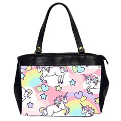 Unicorn Rainbow Office Handbags (2 Sides)  by Nexatart