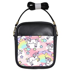 Unicorn Rainbow Girls Sling Bags