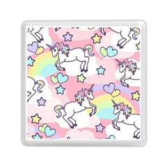 Unicorn Rainbow Memory Card Reader (square)  by Nexatart