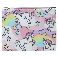 Unicorn Rainbow Cosmetic Bag (xxxl)  by Nexatart