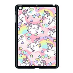 Unicorn Rainbow Apple Ipad Mini Case (black)