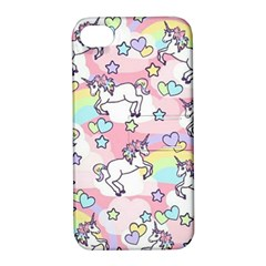 Unicorn Rainbow Apple Iphone 4/4s Hardshell Case With Stand by Nexatart