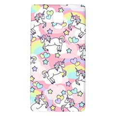 Unicorn Rainbow Galaxy Note 4 Back Case
