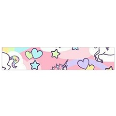 Unicorn Rainbow Flano Scarf (small) by Nexatart
