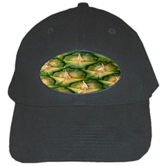 Pineapple Pattern Black Cap by Nexatart