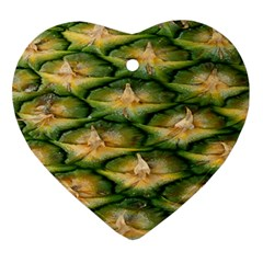 Pineapple Pattern Ornament (heart)
