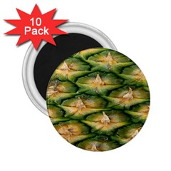 Pineapple Pattern 2 25  Magnets (10 Pack)  by Nexatart