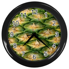 Pineapple Pattern Wall Clocks (black)