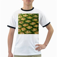 Pineapple Pattern Ringer T Shirts