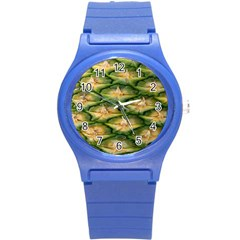 Pineapple Pattern Round Plastic Sport Watch (s) by Nexatart