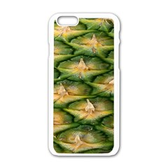 Pineapple Pattern Apple Iphone 6/6s White Enamel Case by Nexatart
