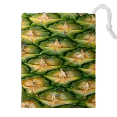 Pineapple Pattern Drawstring Pouches (xxl) by Nexatart