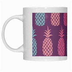 Pineapple Pattern White Mugs by Nexatart