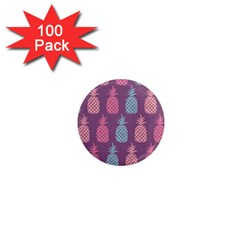 Pineapple Pattern 1  Mini Magnets (100 Pack)