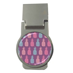 Pineapple Pattern Money Clips (round)