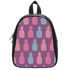 Pineapple Pattern School Bag (small) by Nexatart