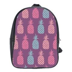 Pineapple Pattern School Bag (xl) by Nexatart