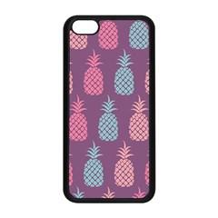 Pineapple Pattern Apple Iphone 5c Seamless Case (black) by Nexatart