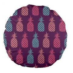 Pineapple Pattern Large 18  Premium Flano Round Cushions by Nexatart
