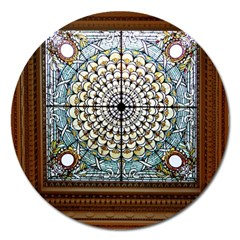 Stained Glass Window Library Of Congress Magnet 5  (round)