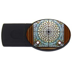 Stained Glass Window Library Of Congress Usb Flash Drive Oval (4 Gb)